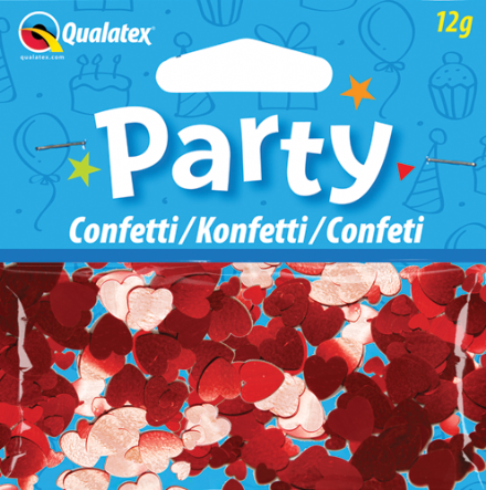 Red Hearts Qualatex Confetti 12g